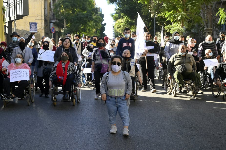 photo of persons with disabilities in protest