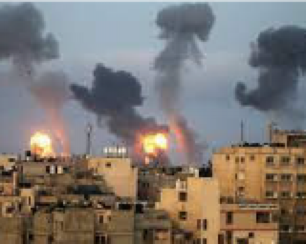 photo of explosion on west bank